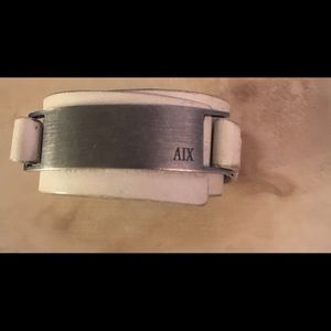 Armani Exchange Leather Bracelet